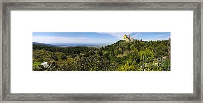 Pena Palace Panorama Framed Print