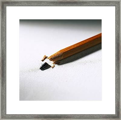 Pencil Framed Print by Kevin Curtis