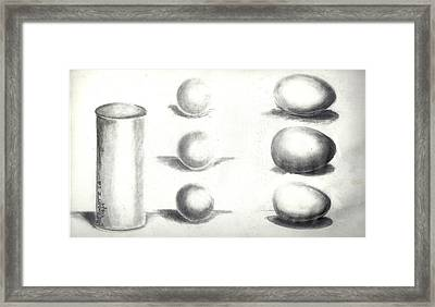 Framed Print featuring the painting Pencil Shadows by Bernadette Krupa