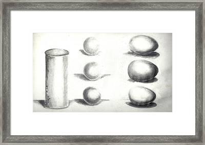 Pencil Shadows Framed Print by Bernadette Krupa