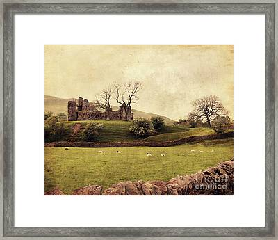 Pendragon Castle Framed Print by Linde Townsend