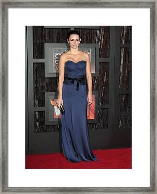 Penelope Cruz At Arrivals For 14th Framed Print by Everett