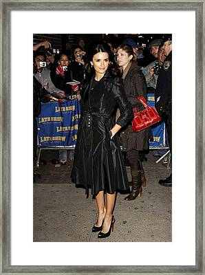 Penelope Cruz At Talk Show Appearance Framed Print by Everett