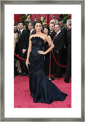 Penelope Cruz Wearing A Chanel Haute Framed Print