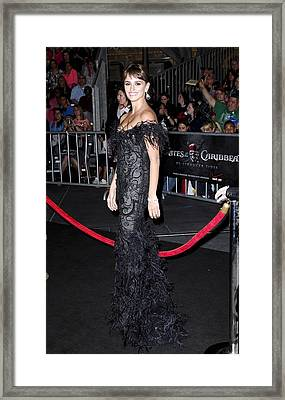 Penelope Cruz Wearing A Marchesa Dress Framed Print by Everett