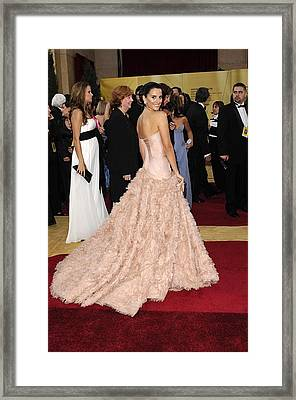 Penelope Cruz Wearing Atelier Versace Framed Print