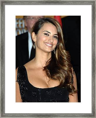 Penelope Cruz Wearing Yossi Harari Framed Print by Everett