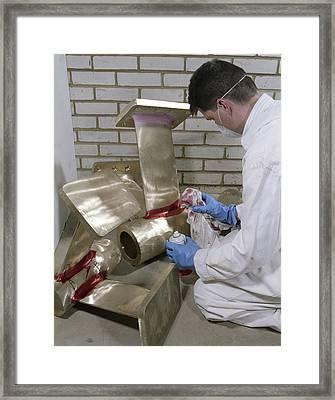Penetrant Test Framed Print by Paul Rapson