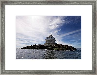 Penfield Reef Lighthouse Framed Print by Stephanie McDowell