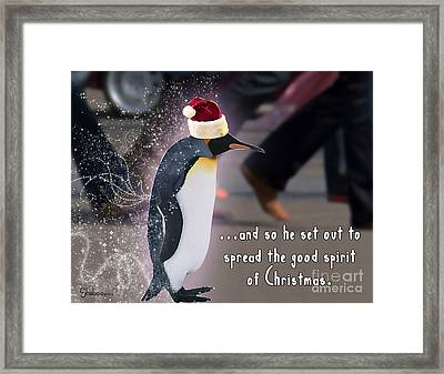 Penguin Holiday Framed Print