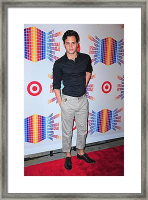 Penn Badgley In Attendance For Target Framed Print by Everett