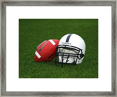 Penn State Football Helmet Framed Print