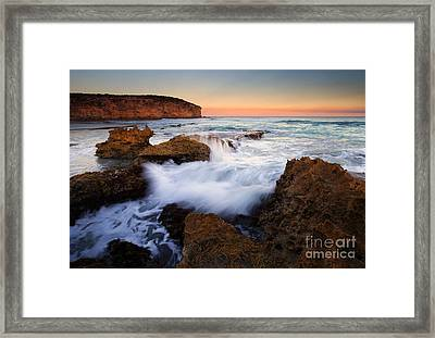 Pennington Pastel Sunset Framed Print by Mike  Dawson