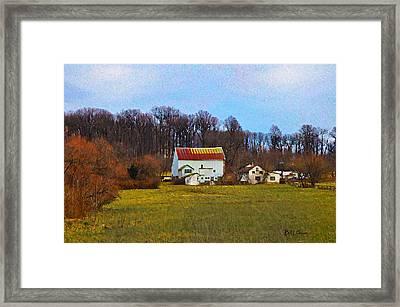 Pennsylvaina Farm Scene Framed Print by Bill Cannon