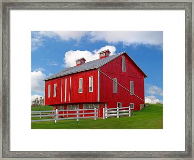 Pennsylvania Dutch Red Barn Framed Print by Brian Mollenkopf