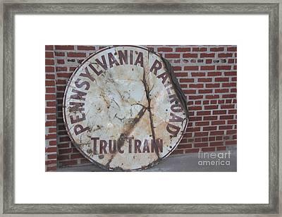 Pennsylvania Railroad Signe Framed Print by Yumi Johnson