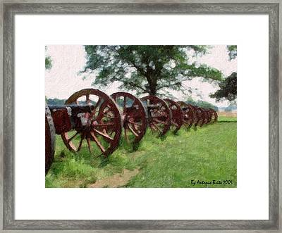 Pennsylvania's Confederate Cannon Framed Print by Antonio Brito