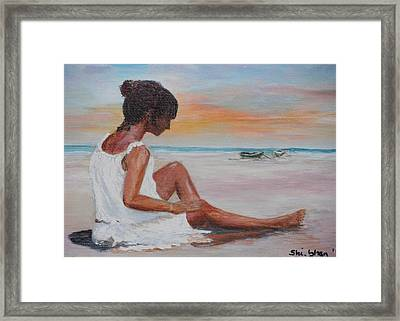 Pensive 1 Framed Print by Siobhan Lawson