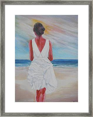 Pensive 2 Framed Print by Siobhan Lawson