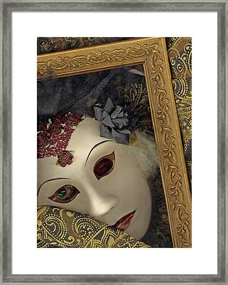 Framed Print featuring the mixed media Pensive by Nareeta Martin