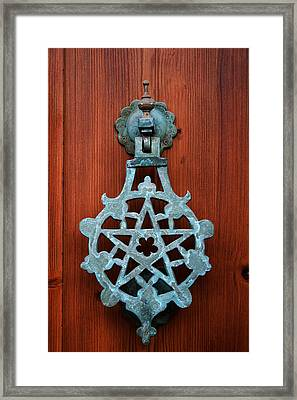 Pentagram Knocker Framed Print by Fabrizio Troiani