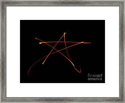 Pentagram Of Fire Framed Print