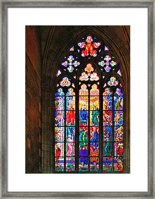 Pentecost Window - St. Vitus Cathedral Prague Framed Print