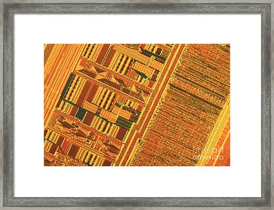 Pentium Computer Chip Framed Print by Michael W. Davidson