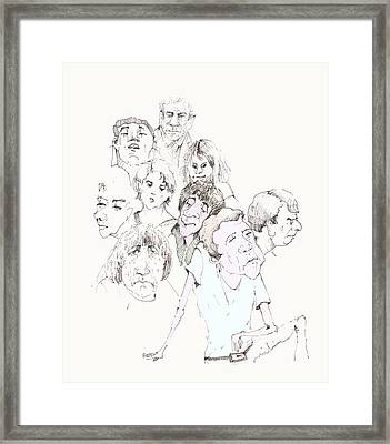 People 02 Framed Print