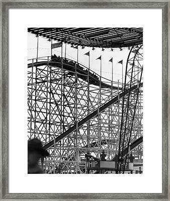 People On Roller Coaster Framed Print by George Marks