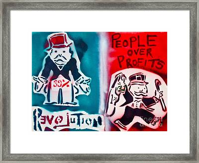 People Over Profits Framed Print by Tony B Conscious