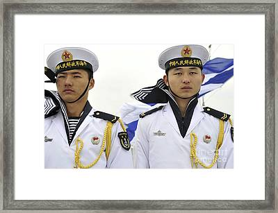 Peoples Liberation Army Navy Sailors Framed Print by Stocktrek Images