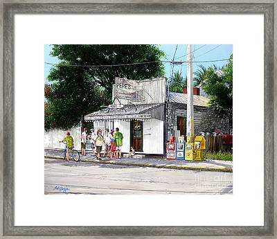 Pepe's Cafe Key West Florida Framed Print
