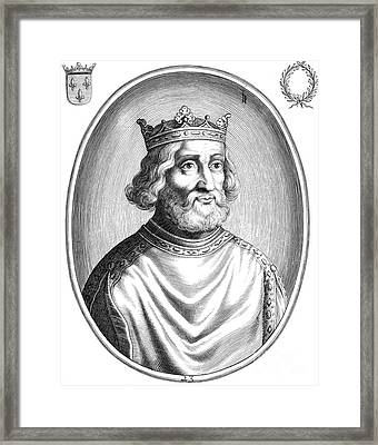 Pepin The Younger, First King Framed Print