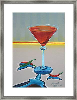 Peppar Martini Framed Print by Michael Baum