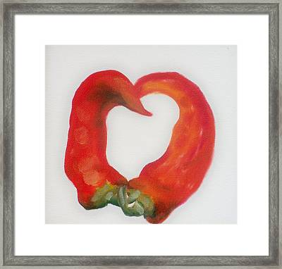 Pepper Heart Framed Print by Joni McPherson