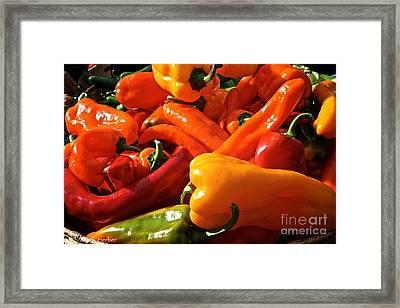 Pepper Palooza Framed Print by Susan Herber