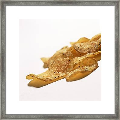 Peppered Crisps Framed Print by Kevin Curtis