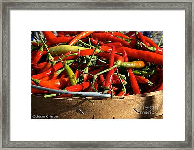 Peppers And More Peppers Framed Print