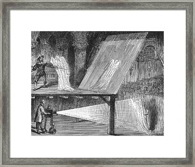 Pepper's Ghost Framed Print by Science, Industry & Business Librarynew York Public Library