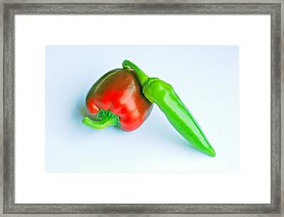 Framed Print featuring the photograph Peppers by Lisa Phillips