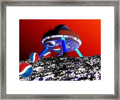 Framed Print featuring the photograph Pepsi Calendar by Tony Murray