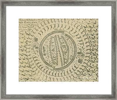 Pequot War Mystic Massacre 1637 Framed Print by Photo Researchers