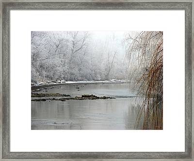 Perch Creek Hoar Frost Framed Print