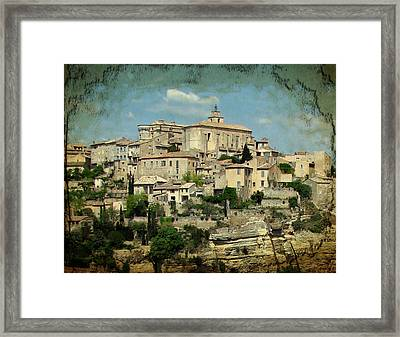 Perched Village Of Gordes Framed Print by Carla Parris