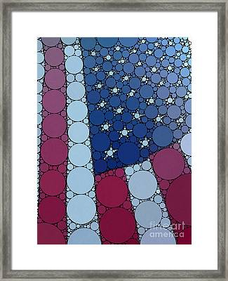 Percolated American Flag Framed Print by Christine Segalas