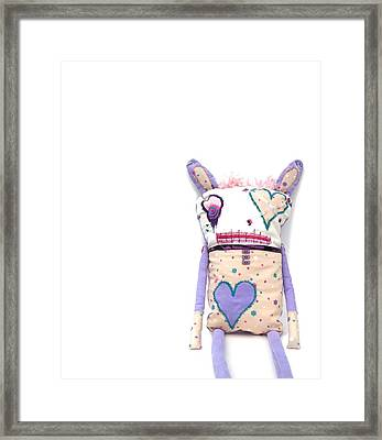 Percry Of The Cutie Patootie Zombie Bunny Twins Framed Print by Oddball Art Co by Lizzy Love