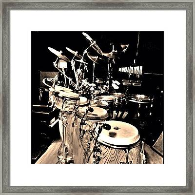 Percussion #percussion #music #jazz Framed Print