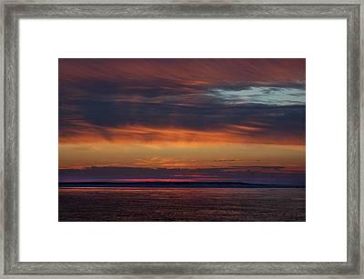 Perdido Pass Red Sunrise Framed Print by Michael Thomas