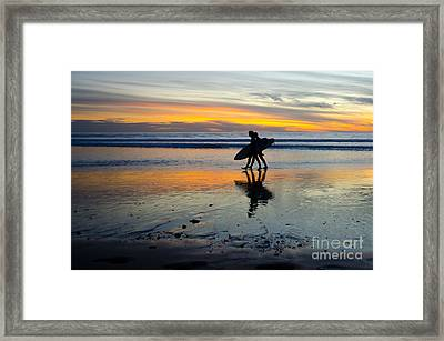 Perfect Day's End Framed Print by Athena Lin